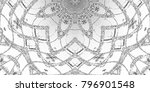 black and white relief convex... | Shutterstock . vector #796901548