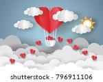 valentine's day concept. love... | Shutterstock .eps vector #796911106