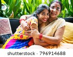 a happy indian family | Shutterstock . vector #796914688