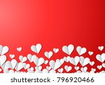 valentines day card with... | Shutterstock . vector #796920466