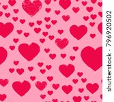 valentines day seamless pattern ... | Shutterstock . vector #796920502