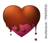 valentines day purple heart... | Shutterstock . vector #796920532