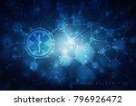 2d illustration medicine... | Shutterstock . vector #796926472