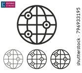 globe   outline icon on white...   Shutterstock .eps vector #796933195