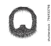 realistic beard  isolated on... | Shutterstock .eps vector #796933798