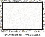 swirly heart border in vector... | Shutterstock .eps vector #796936066