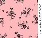 glamour chamomile black... | Shutterstock .eps vector #796936366