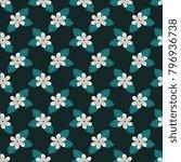 seamless gardenia decorative...   Shutterstock .eps vector #796936738