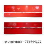 bright red gift voucher... | Shutterstock .eps vector #796944172