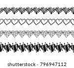 decorative hearts  ribbons and... | Shutterstock .eps vector #796947112