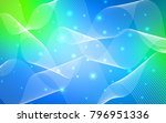 light blue  green vector cover... | Shutterstock .eps vector #796951336