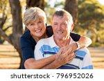 portrait of american senior... | Shutterstock . vector #796952026