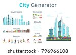 vector  cartoon style city... | Shutterstock .eps vector #796966108