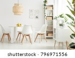bright and spacious dining room ... | Shutterstock . vector #796971556