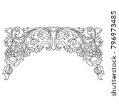 vintage baroque ornament ... | Shutterstock .eps vector #796973485
