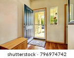 Small Foyer With Green Open...