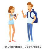 male and female students. young ... | Shutterstock .eps vector #796975852
