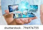 businessman connecting tech... | Shutterstock . vector #796976755