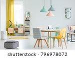 feminine dining room interior... | Shutterstock . vector #796978072