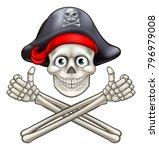 jolly roger pirate skull and...   Shutterstock .eps vector #796979008