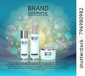 3d realistic cosmetic bottle... | Shutterstock .eps vector #796980982