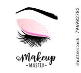 makeup master logo. vector...   Shutterstock .eps vector #796982782
