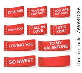 valentine's day clothing labels ... | Shutterstock .eps vector #796984036