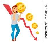 bitcoin crash graph vector.... | Shutterstock .eps vector #796984042
