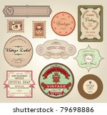 Stock vector illustration retro label bookmarks tags for stickers vector illustration 79698886