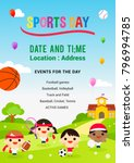 sports day poster vector... | Shutterstock .eps vector #796994785