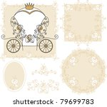 set frames  ornaments with... | Shutterstock .eps vector #79699783