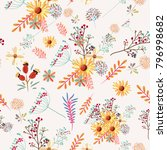 floral pretty pattern with... | Shutterstock .eps vector #796998682
