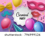 carnival party background with... | Shutterstock .eps vector #796999126