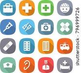 flat vector icon set   doctor... | Shutterstock .eps vector #796999726