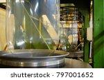 blown film extrusion plastic... | Shutterstock . vector #797001652