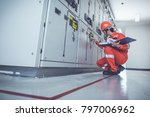engineering team working on... | Shutterstock . vector #797006962
