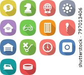 flat vector icon set   money... | Shutterstock .eps vector #797013406