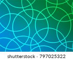 light blue  green vector doodle ... | Shutterstock .eps vector #797025322