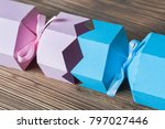 christmas or holiday present... | Shutterstock . vector #797027446