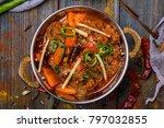 gosht masala indian food in a... | Shutterstock . vector #797032855