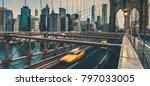 brooklyn bridge in nyc  usa. | Shutterstock . vector #797033005