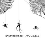 illustration with spider web... | Shutterstock .eps vector #79703311