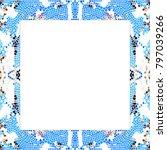 rectangular frame of stained... | Shutterstock . vector #797039266