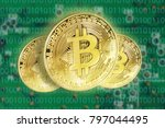 bitcoins concept with... | Shutterstock . vector #797044495