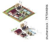 isometric factory vector... | Shutterstock .eps vector #797044846