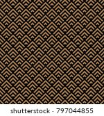 abstract gold striped triangles ... | Shutterstock .eps vector #797044855