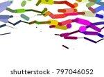light multicolor  rainbow...   Shutterstock .eps vector #797046052