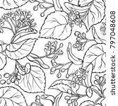 linden seamless pattern | Shutterstock .eps vector #797048608