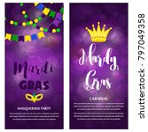 mardi gras carnival party... | Shutterstock .eps vector #797049358