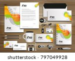 vector abstract stationery... | Shutterstock .eps vector #797049928
